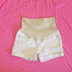 New Pinkblush Maternity White Jean Shorts